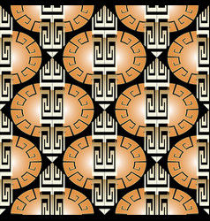 modern striped ornate greek seamless pattern vector image