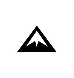 mountain icon in flat style for app ui websites vector image