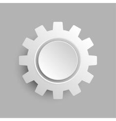 Paper Banner Mockup Cogwheel Gear vector image