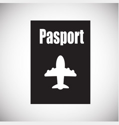 passport on white background vector image