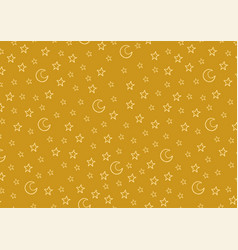 pattern with cute cartoon stars and halfmoons vector image