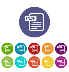 Pdf flat icon vector