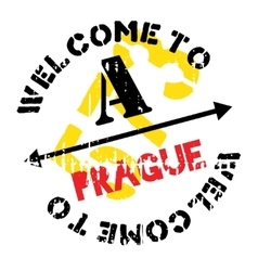 Prague stamp rubber grunge vector