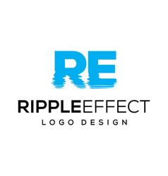 Ripple effect logo design vector