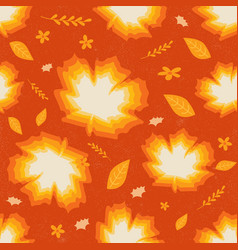 seamless pattern of maple autumn leaves vector image