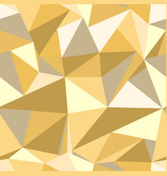 Seamless pattern with glitter gold triangles vector
