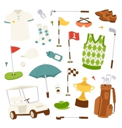 set golf icons vector image