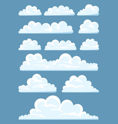 set of cartoon clouds vector image