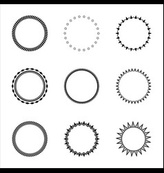 simple round frames collection design elements vector image