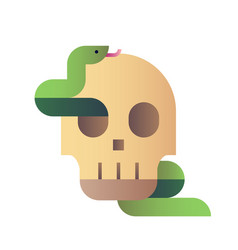 Skull snake gradient vector