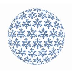 Snowflakes in sphere vector image