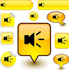 Sound signs vector image
