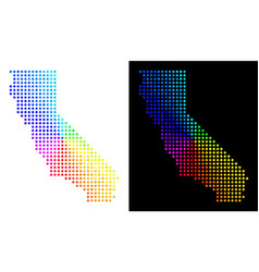 Spectral dot california map vector