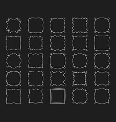 Square frames set abstract modern design elements vector