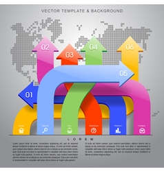 Temlate and background vector image