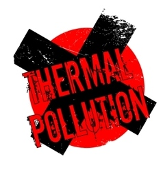 Thermal Pollution rubber stamp vector
