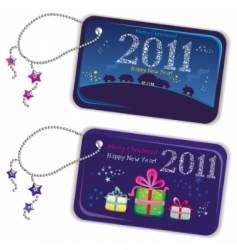 trinket tags 2011 vector image