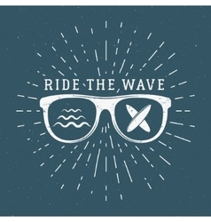 Vintage Surfing Graphics and Emblem for web design vector
