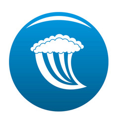 wave water icon blue vector image
