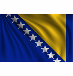 Waving bosnia and herzegovina vector