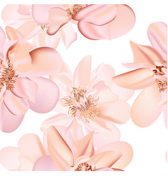 wedding peony floral pastel realistic pattern vector image