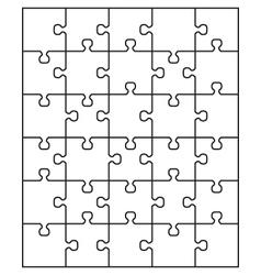 White puzzle 24 vector