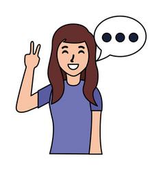 woman speech bubble vector image