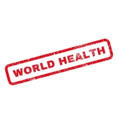 World Health Rubber Stamp vector