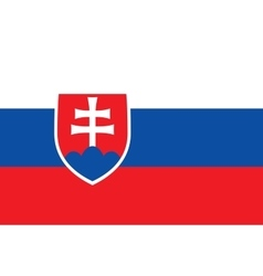 Flag of Slovakia in correct proportions and colors vector image vector image