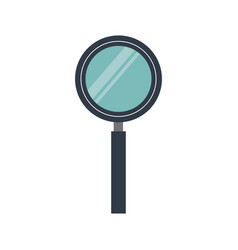 magnifier search loupe tool zoom find vector image vector image