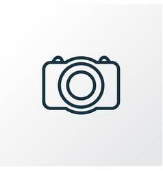 photo camera outline symbol premium quality vector image vector image