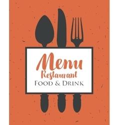 restaurant menu with cutlery vector image vector image