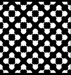 seamless pattern simple floral geometric texture vector image vector image