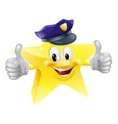 star policeman cartoon vector image vector image