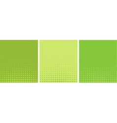 graphical green yellow gradient in halftone style vector image vector image