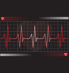 heartbeat monitor vector image