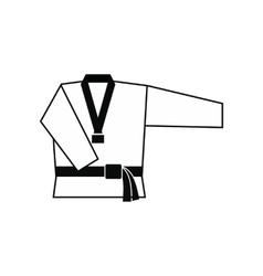 Kimono and martial arts belt icon vector image