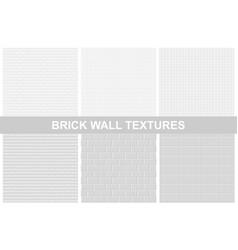 brick wall textures - seamless vector image vector image