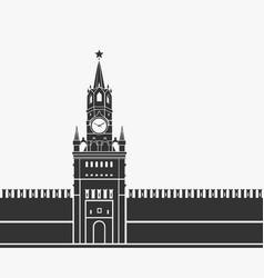 kremlin clock chimes moscow symbol vector image vector image