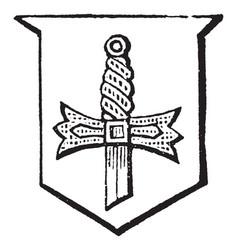 Sword hilted of a sword tinctured vintage vector