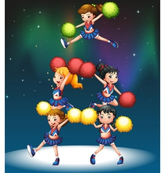 A cheering squad vector image