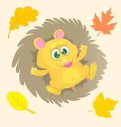 cute cartoon hedgehog character vector image vector image