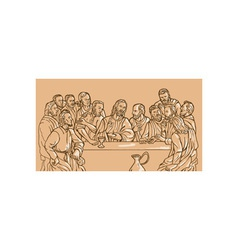 last supper Jesus Christ savior disciples apostles vector image vector image