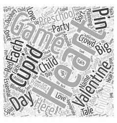 Valentines day games preschoolers Word Cloud vector image