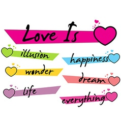 About What Love Is vector