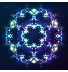 Abstract cosmic fractal snowflake vector