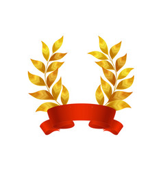 Academic laurel ribbon composition vector