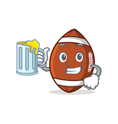 american football character cartoon with juice vector image