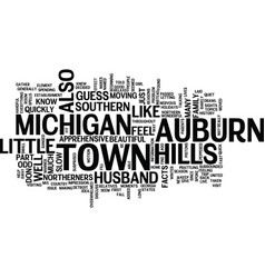 Auburn hills michigan text background word cloud vector
