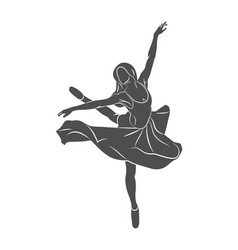 Ballerin dancer abstract vector
